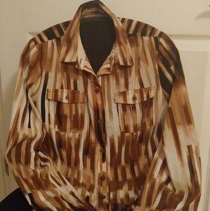 Dana Buchman button down blouse